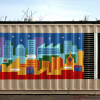 FRP mural, painted with Paint Place paint!