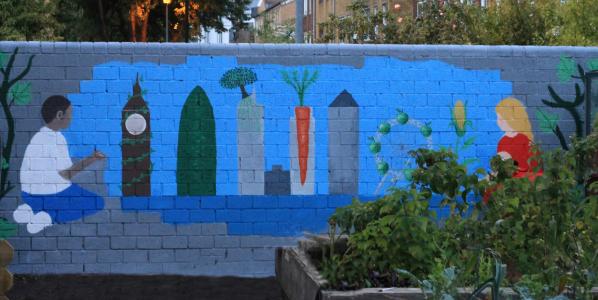 Mural on Rhodes Estate, Hackney