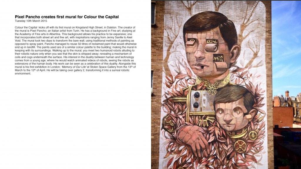 Pixel Pancho first mural